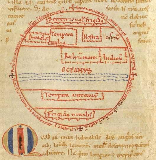 Macrobius, mappa mundi