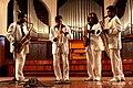 Magic Sax Quartet de concierto en Sala Dolores, de izquierdas a derechas, Rey Amaury Burgos Delís, Juan Chacón Gonzalez, Julio Cesar González Simón y Osnel Carbonell Neyra (17-9-2011) - panoramio.jpg
