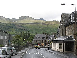 Killin village in Stirling (formerly Perthshire), Scotland