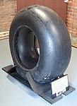 Mainwheel tyre from Messerschmitt Bf110 – Bamburgh Castle. (24899020087).jpg