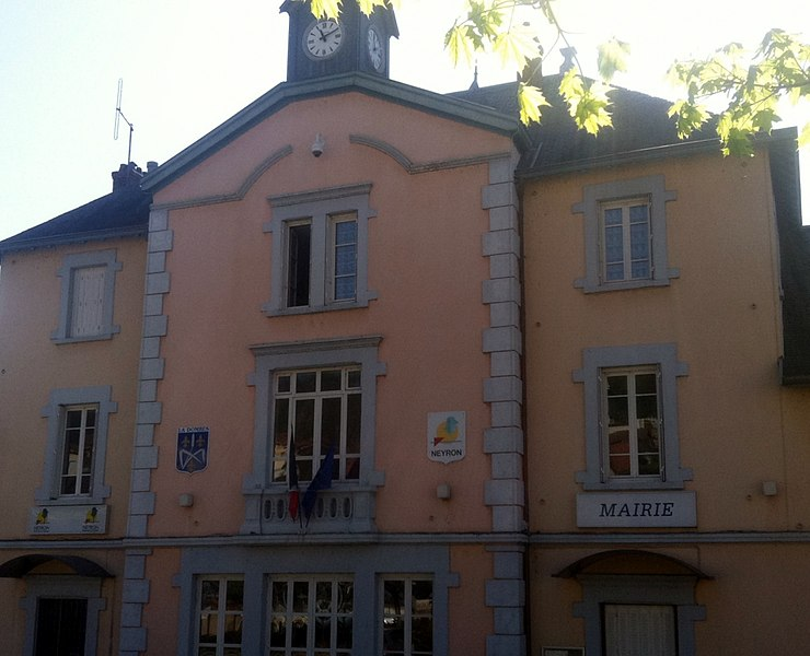 Mairie de Neyron, dans l'Ain.