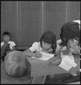 Manzanar Relocation Center, Manzanar, California. An elementary school has been established with vo . . . - NARA - 537959.tif