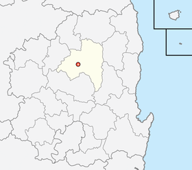Location of Andong