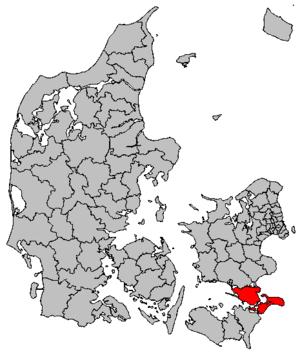 Vordingborg Municipality - Image: Map DK Vordingborg