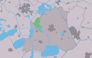 Boornzwaag - Image: Map NL Skarsterlân Boarnsweach