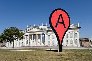 Aram Bartholl - Map by Aram Bartholl at the show Hello World, Kasseler Kunstverein2013
