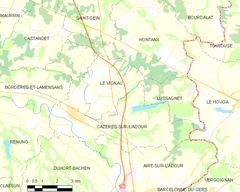 Map commune FR insee code 40080.png