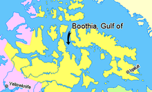 Map indicating the Gulf of Boothia, Nunavut, Canada.png