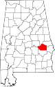 Map of Alabama highlighting Macon County.svg