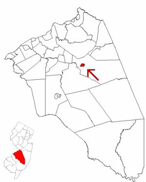 Pemberton, New Jersey - Image: Map of Burlington County highlighting Pemberton