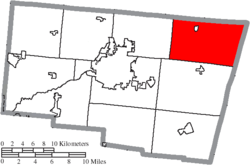 Location of Pleasant Township in Clark County