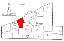 Location of Fairview Township in Erie County