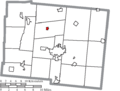 Map of Logan County Ohio Highlighting Huntsville Village.png