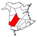 Map of New Brunswick highlighting York County.png