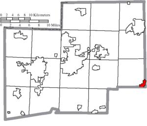 Minerva, Ohio - Image: Map of Stark County Ohio Highlighting Minerva Village