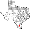 State map highlighting Brooks County