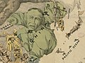 Map of Tibet appears as a yellow monk independent from Green China from A humorous diplomatic atlas of Europe and Asia (6093609427) (cropped).jpg