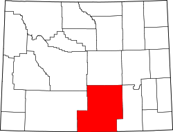 Map of Wyoming highlighting Carbon County.svg