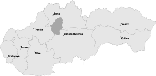 Position of Turiec in Slovakia