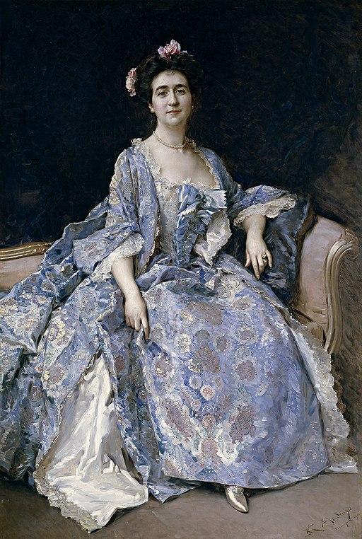 María Hahn, esposa del pintor, por Raimundo de Madrazo