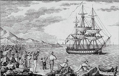 El María Pita zarpando de la Coruña