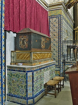 Maria of Portugal, Queen of Castile - The tomb of María of Portugal at the Royal Monastery of San Clemente in Seville.