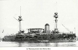French ironclad Marceau - Marceau as originally built