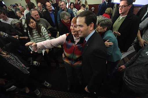 Marco Rubio with supporters