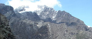 Rwenzori Mountains - Margherita Peak on Mount Stanley is the highest point in the range.