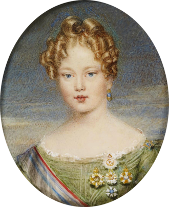 William Hall Gage - The young Queen Maria II who Gage had orders to protect during the ongoing Liberal Wars in Portugal.