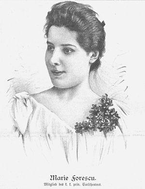 Maria Forescu - Image: Marie Forescu 1895
