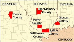 Locator Map of counties affected by the Marion...