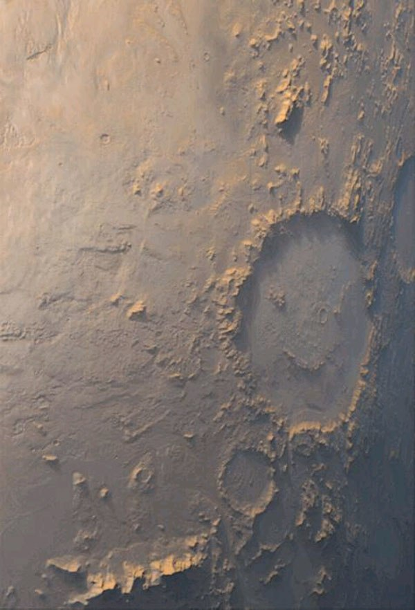 Mars KAMLOOPS Galle Craters Argyre Planitia