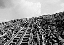 Marsh rack system of the Mount Washington Cog Railway.jpg
