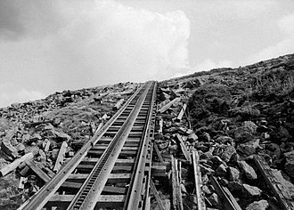 Mount Washington Cog Railway - Track with rack