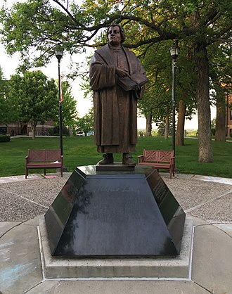 Martin Luther College - Statue of Martin Luther