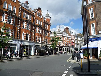 Brick and mortar - Bricks and mortar retail shops on Marylebone High Street, London