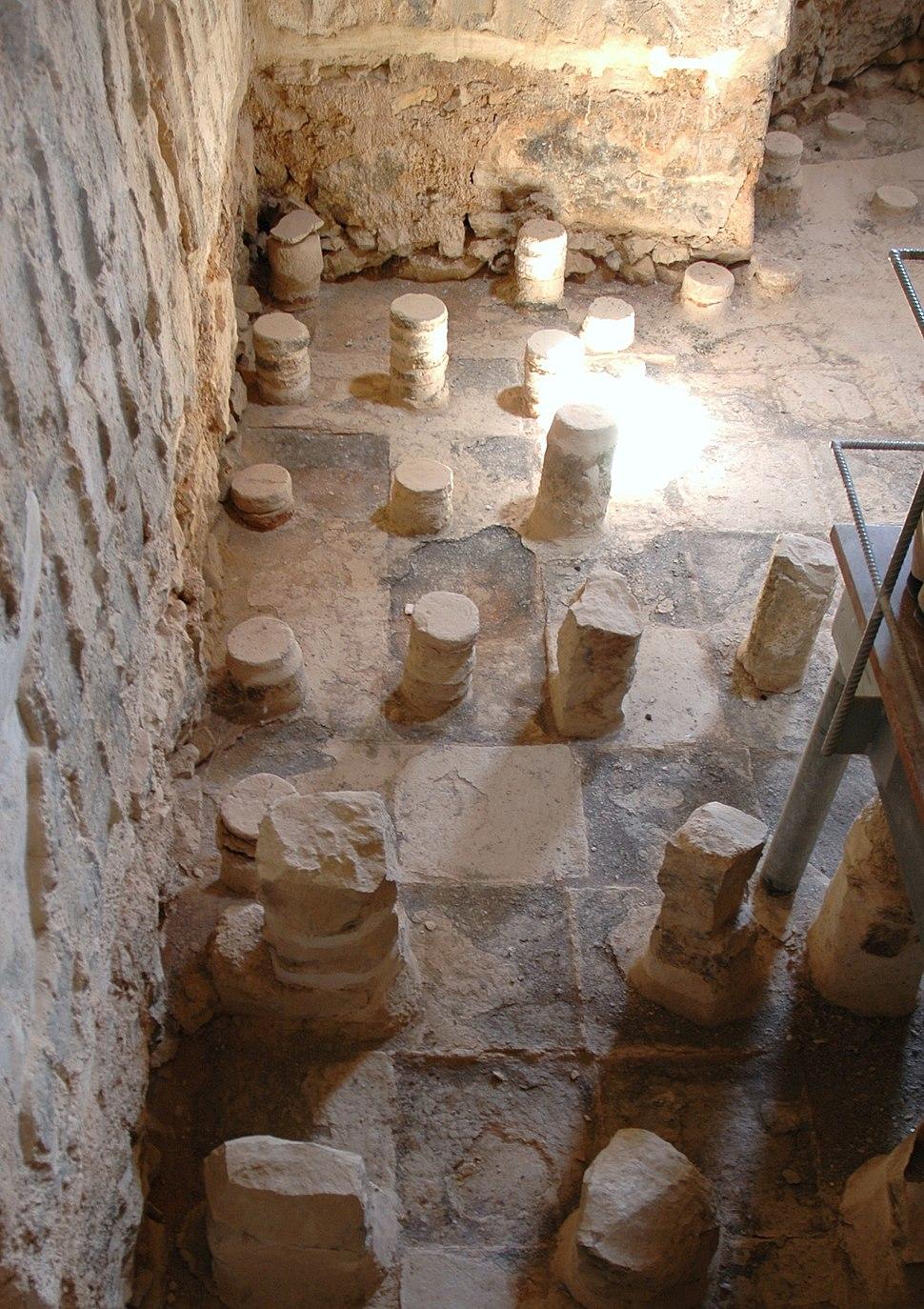 Masada, calidarium - gaspa