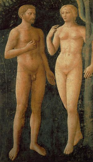 Brancacci Chapel - The Temptation of Adam and Eve, by Masolino da Panicale.