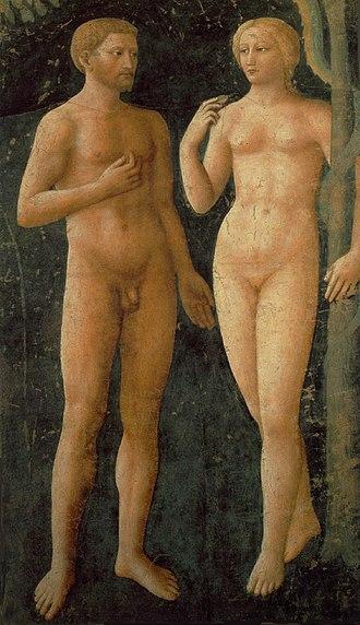 Brancacci Chapel - The Temptation of Adam and Eve, by Masolino da Panicale.