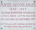 Massy Plaque Fustel de Coulanges.JPG