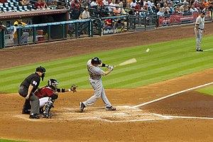 Matt Diaz - Matt Diaz hitting against the Houston Astros