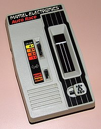 Mattel Electronics Auto Race, No. 9879, Red LED, Made In Hong Kong, Copyright 1976 (LED Handheld Electronic Game).jpg