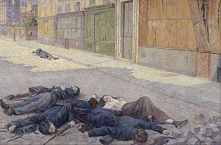 A Street in Paris in May 1871