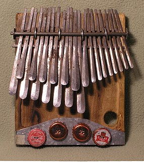 Mbira African musical instrument of the lamellophone family