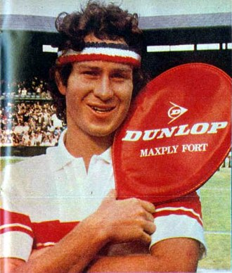 John McEnroe - McEnroe in a Dunlop advertisement published on El Gráfico, 1981