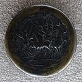 Medaglione di tacito, 275-276 dc, verso con tacito a cavallo, vittoria alata e soldati.JPG