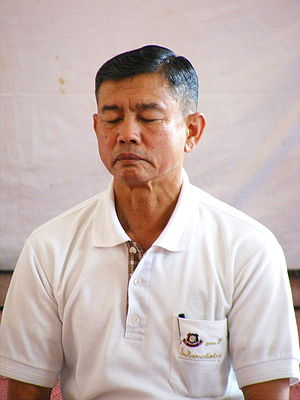 Efficacy of prayer - A man in meditation