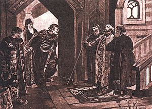 Dmitry Shemyaka - Meeting of Shemyaka with Vasily II after the Latter's Blinding.