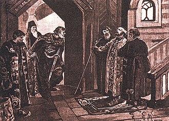 Dmitry Shemyaka - Meeting of Shemyaka with Vasily II after the Latter's Blinding.